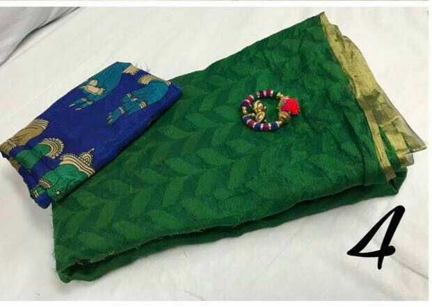 Patola Cotton Saree with kalamkari cotton blouse