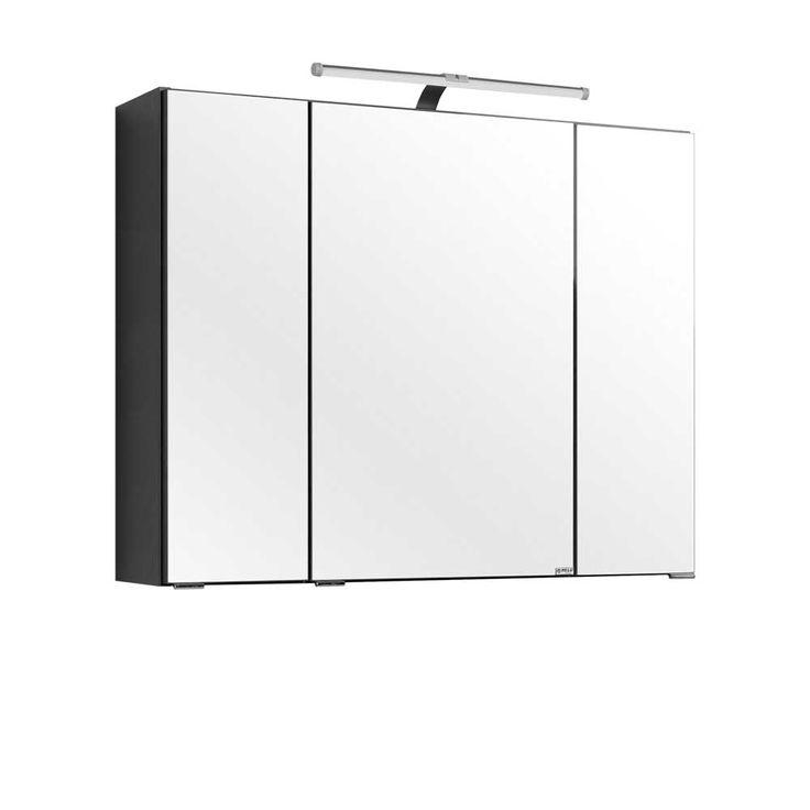 Spiegelschrank in Grau 80 cm breit Jetzt bestellen unter: https://moebel.ladendirekt.de/bad/badmoebel/spiegelschraenke/?uid=6d2cdd50-aaec-5786-91d1-c0c1477b7760&utm_source=pinterest&utm_medium=pin&utm_campaign=boards #badezimmerkommode #bad #beistellschrank #spiegelschrank #spiegelschraenke #badschrank #badmoebel #badspiegelschrank #spiegel #badeschrank #lichtspiegelschrank #badezimmerspiegelschrank #badezimmer