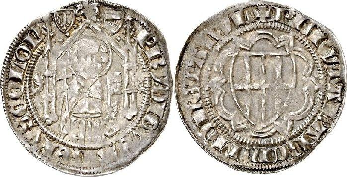Weißpfennig (1 1376 Köln-Erzbistum Friedrich III., Graf von Saarwerden 1371-1414. ss / vz