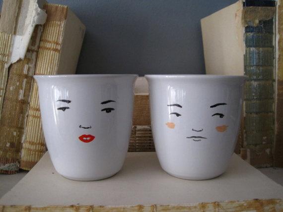projects idea unique tea cups. DIY idea  Face teacups 61 best Surreal Dinner Party The TeaCup images on Pinterest