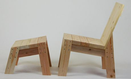 cool 2x4 chair design