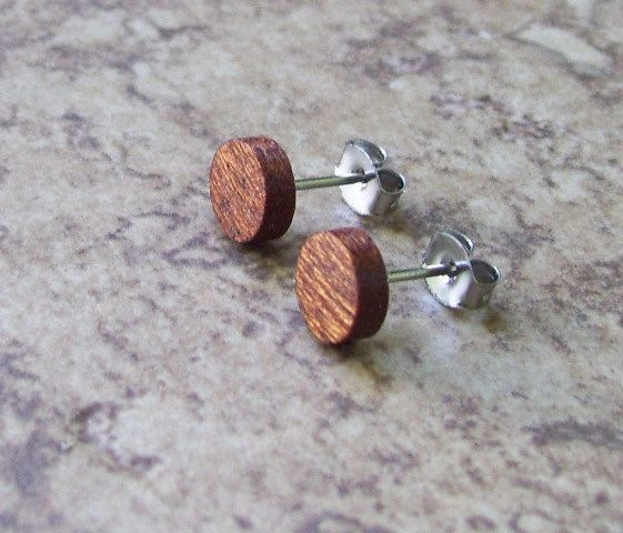 Handcrafted Exotic Cocobolo Wood Cufflinks Perfecy Gift by OruAka
