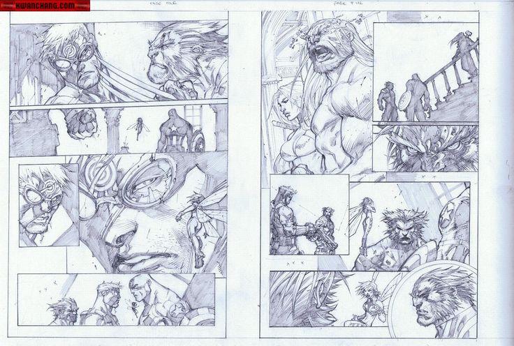 Kwan Chang :: For Sale Artwork :: Ultimates 3 # 3 by artist Joe Madureira