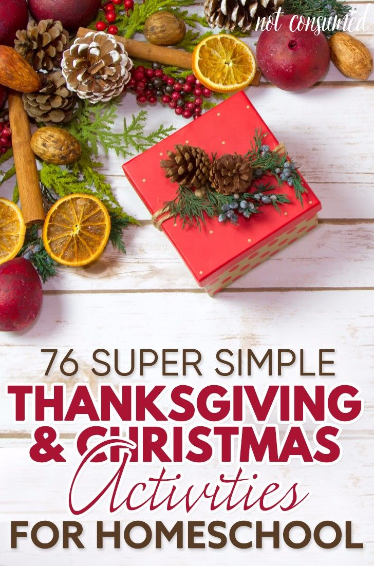Thinking about combining seasonal excitement with necessary learning? This mega list of 109 simple Thanksgiving and Christmas homeschool activities spans all ages and is easily adaptable. So don't let that curriculum box you in, take a break and enjoy a little seasonal homeschool bliss.