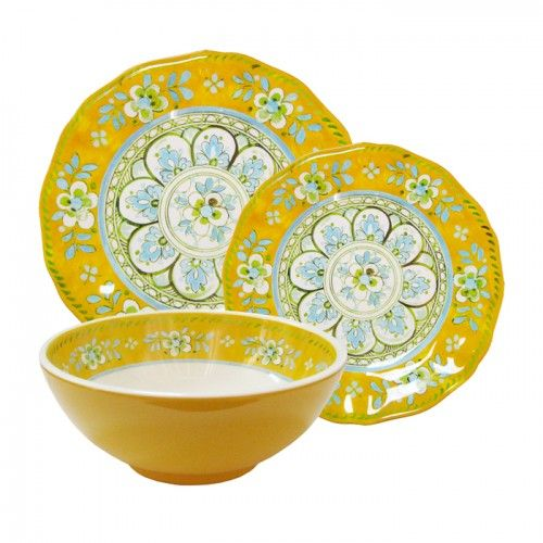Madrid Yellow Dinnerware