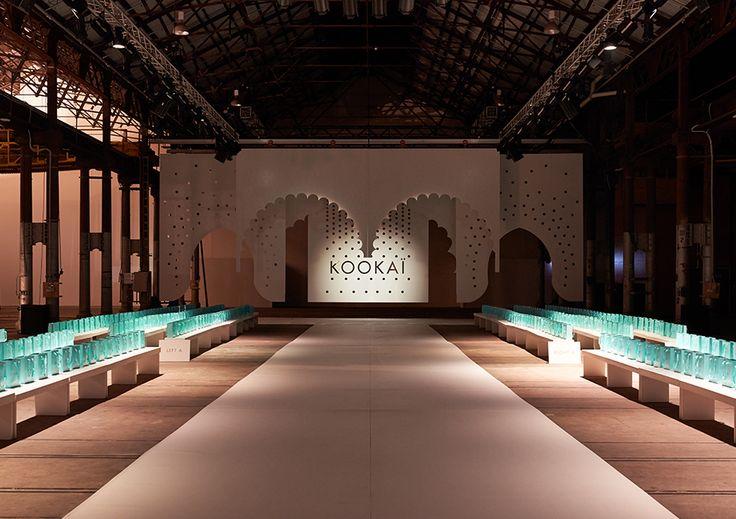 Gloss Creative | Kookai | SS15 Runway #glosscreative #kookai #setdesign #installation #creativedirection #floralstyling #runway #catwalk #fashionparade