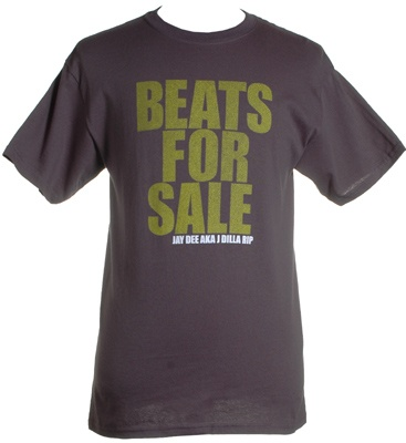 The Giant Peach - J Dilla - Beats for Sale Shirt, Charcoal, $20.00 (http://www.thegiantpeach.com/j-dilla-beats-for-sale-shirt-charcoal/)