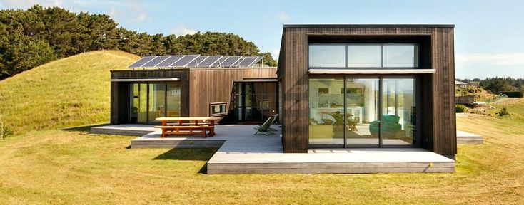 The eco home was built using a number of sustainable features.