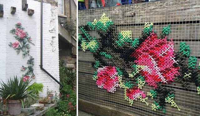 Милые сердцу штучки: Вышитые фасады от Ракель Родриго (Испания, Мадрид)