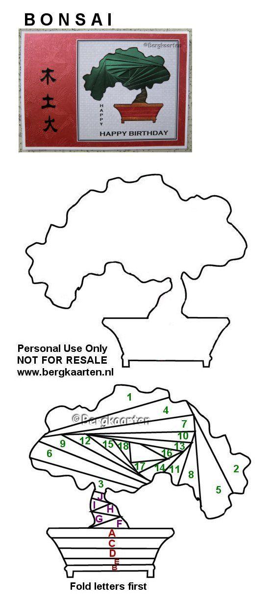 Irisvouwen: Bonsai