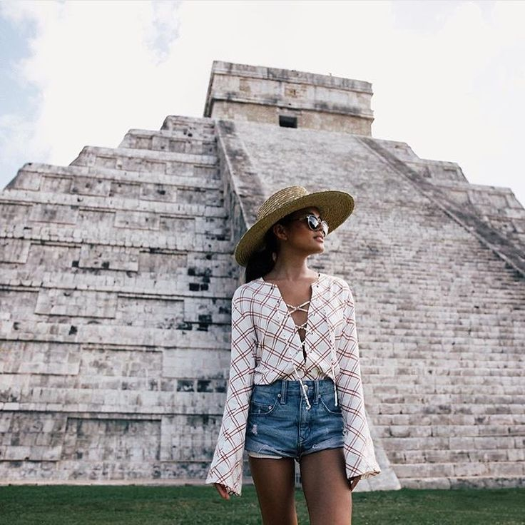 """#faithfulltraveller @lusttforlife exploring the Mayan ruins of Chichen Itza, Mexico. Olivia wears the 'Natalia top' - available online & in selected…"""