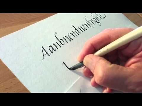 Writing with a turkey quill pen & sumi ink - YouTube