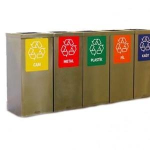Design Wertstoffsammler Mülltrennsystem für Abfall und