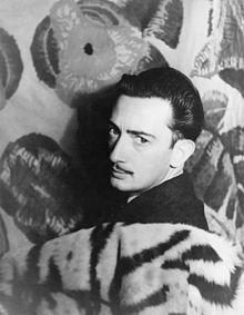 Salvador Dali    http://upload.wikimedia.org/wikipedia/commons/thumb/2/24/Salvador_Dal%C3%AD_1939.jpg/220px-Salvador_Dal%C3%AD_1939.jpg