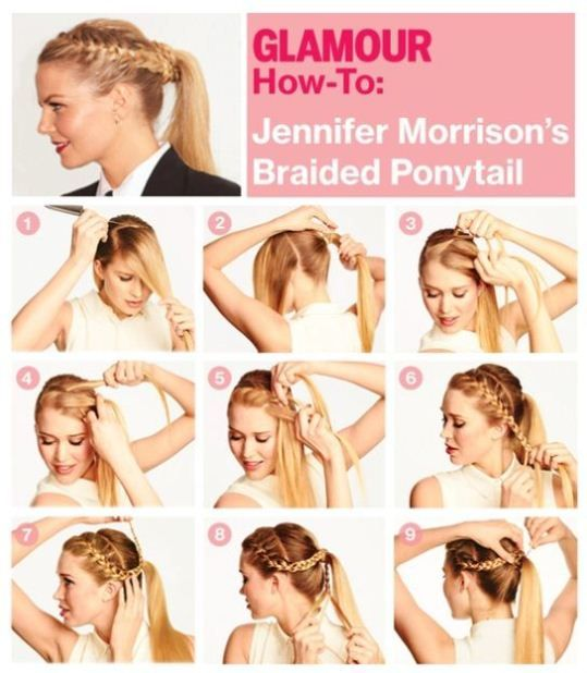 French braided ponytail