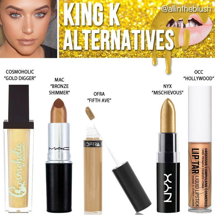 Kylie Jenner Cosmetics King K Lipstick Alternatives
