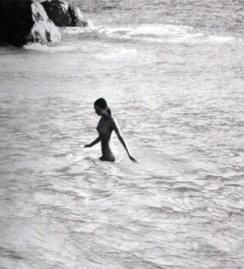 woman  the sea