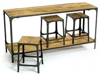 Bar Tables - space saver table and stools