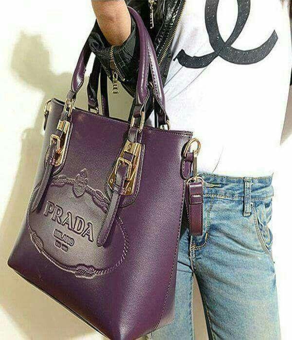 Purple Prada Bag.