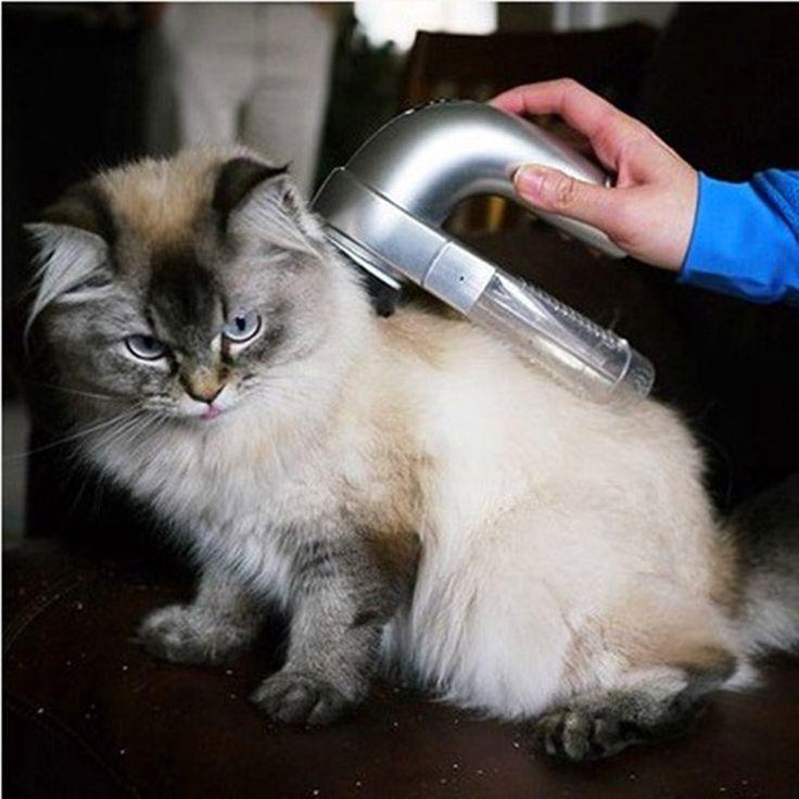 2016 Hot Sale Electric Pet Grooming Dog Cat Hair collection Removal Vacuum Fur Suction Device Cordless Gatos kedi malzemeleri