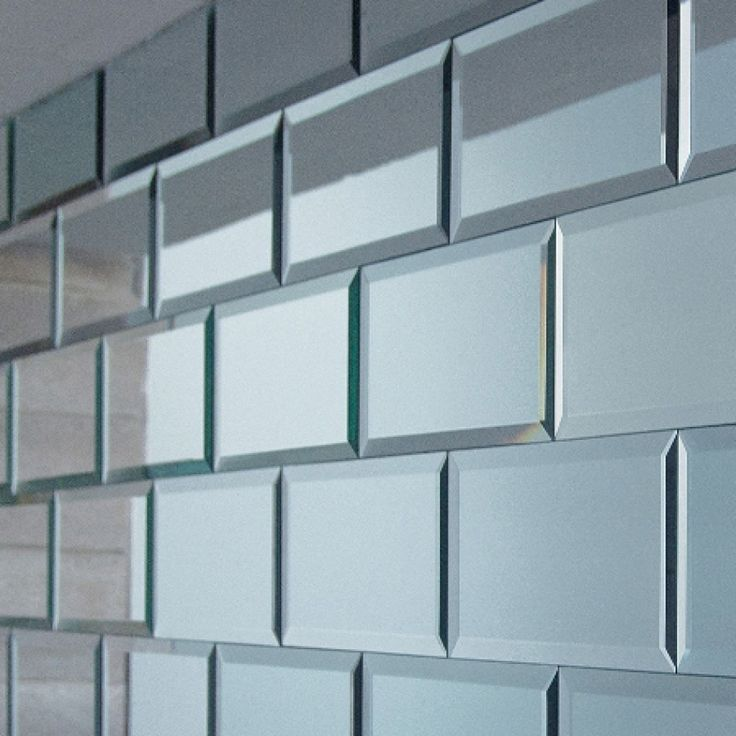 Set of 18 Rectangular Mirrored Tiles - Mirrored Tiles - Wallpaper & Tiles - Home Accents