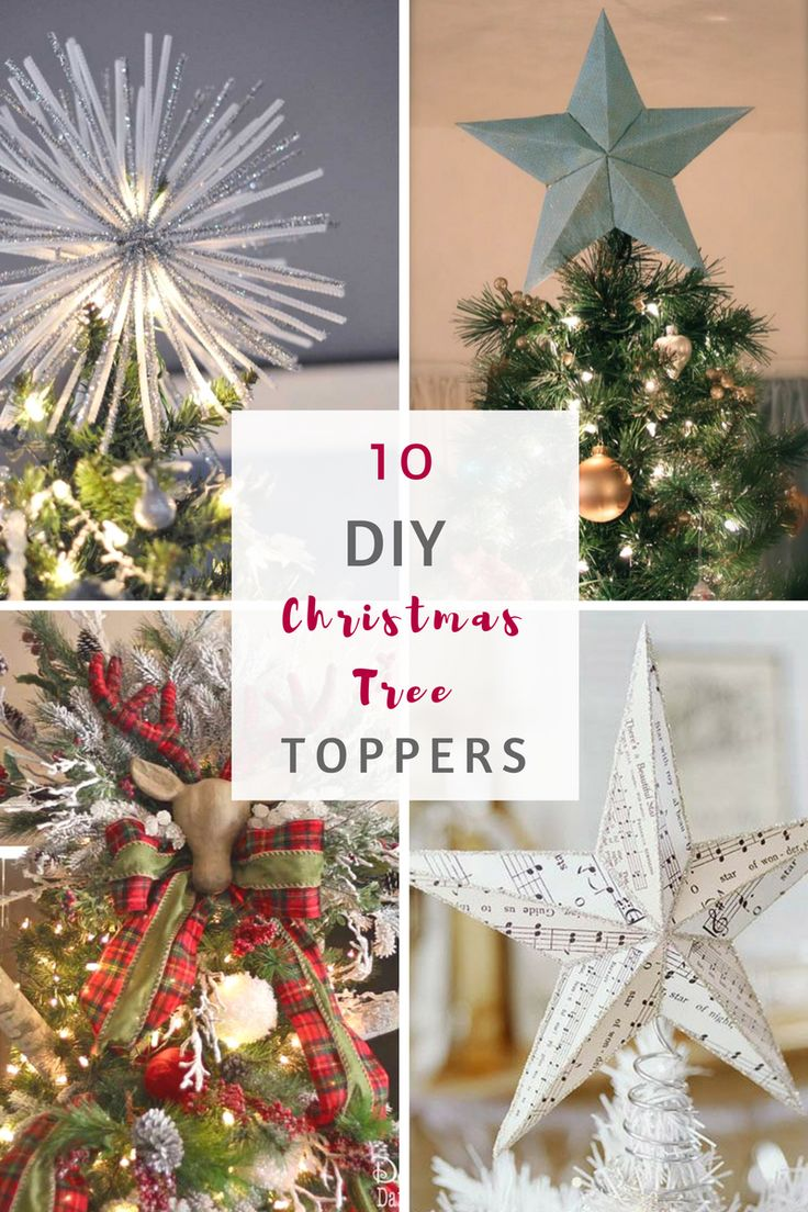 Non traditional christmas tree ideas - 10 Diy Christmas Tree Toppers