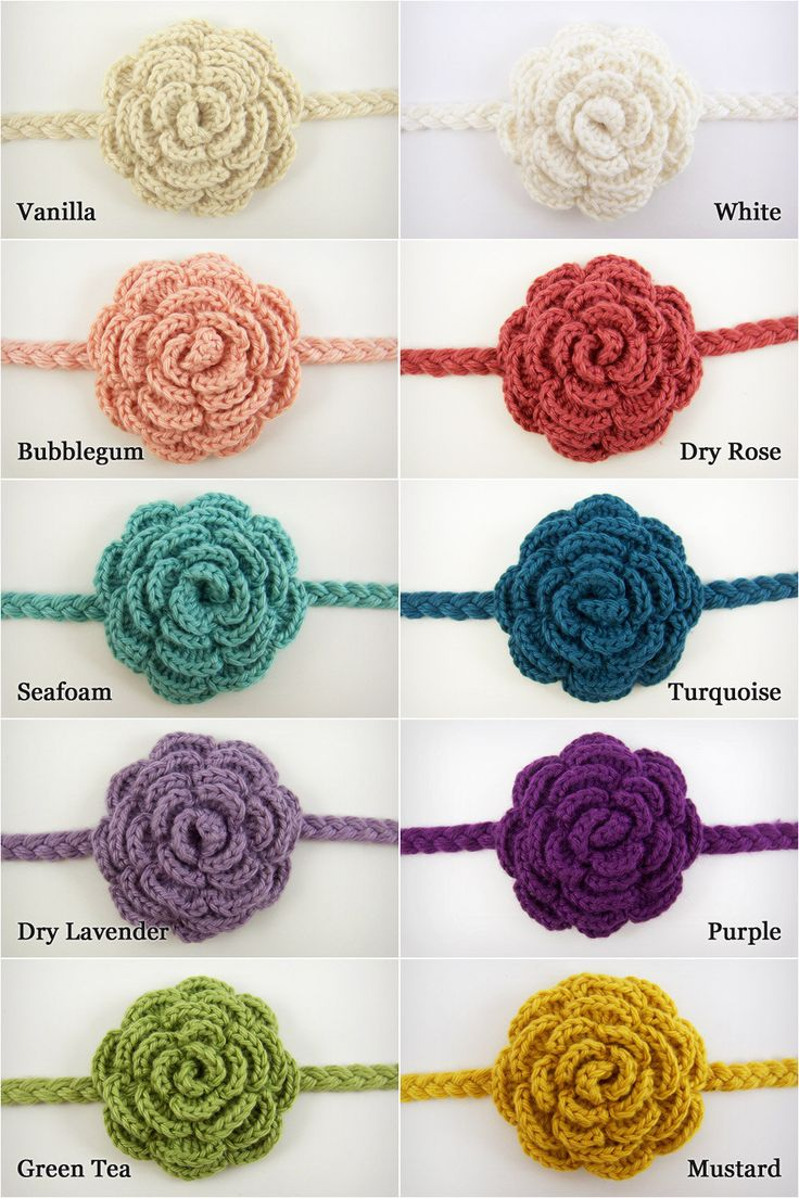 429 best Crochet Baby Headbands and Ear Warmers images on Pinterest ...