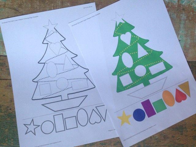 Imprima essas duas versões dos quebra-cabeça de árvore Natal! Você terá a opção de imprimir o preto e branco, para colorir, ou o colorido que já vem...
