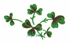 Ceramic Decals Green Shamrock Floral Bunch | eBay