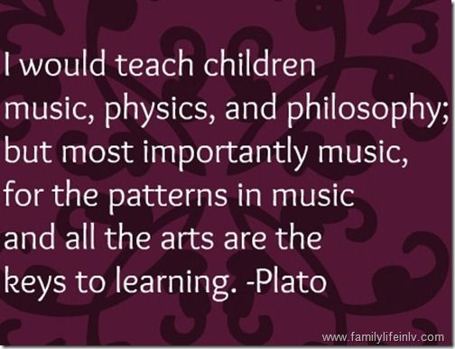 Plato quote on music
