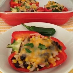 Spicy Stuffed Peppers with Couscous recipe