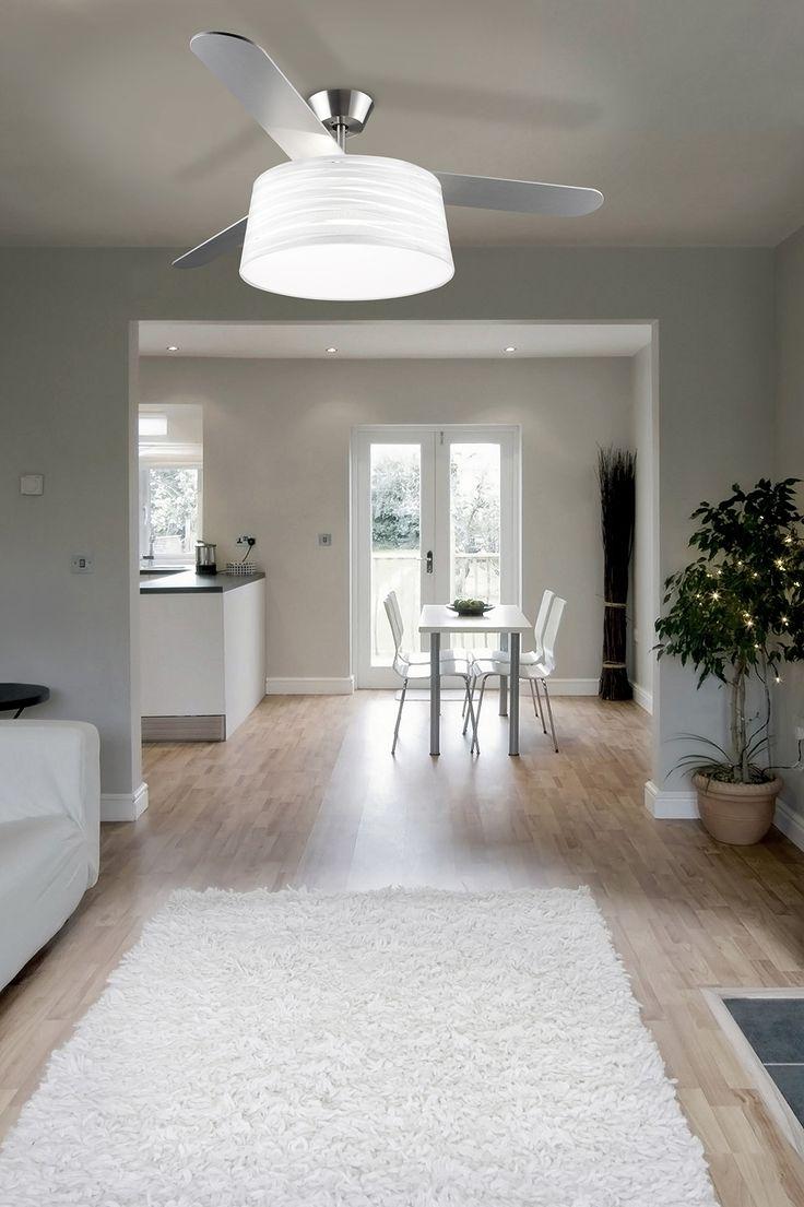 Ventilateur de plafond avec abat-jour belmont de LEDS C4 mister lumière
