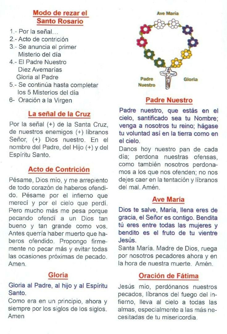 Pin by Olga Cuadros Londoño on ORACIONES. Rosary prayers
