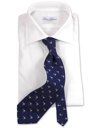 J221A- Palmetto and Moon Tie in Navy