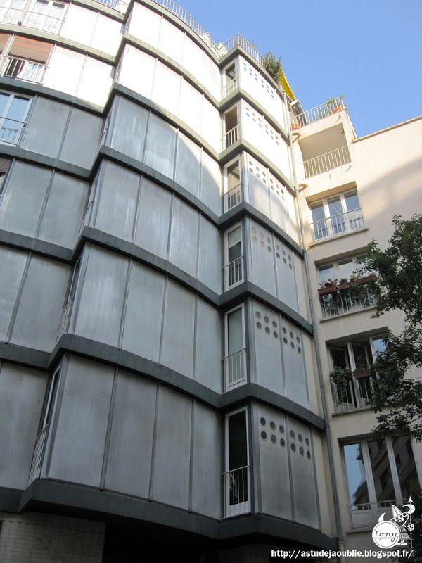 paris 5 me immeuble rue jean de beauvais architecte jean le couteur ing nieur jean prouv. Black Bedroom Furniture Sets. Home Design Ideas