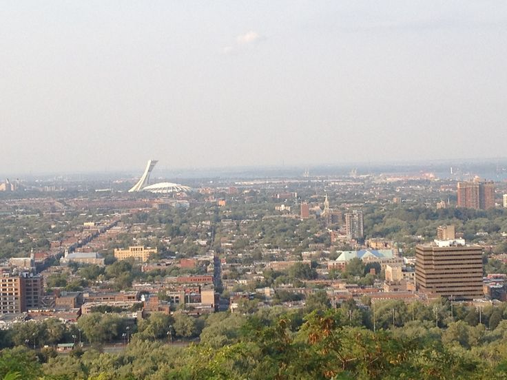 View of Montreal from above