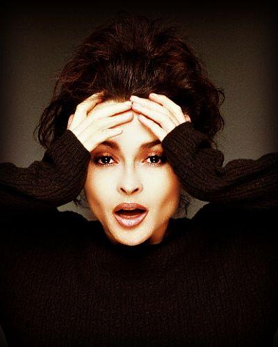 helena bonham carter.. I wish my cheekbones looked like that..