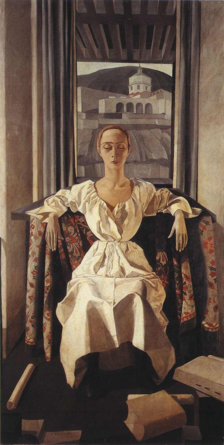 Portrait of Silvana Cenni (1922). Felice Casorati.