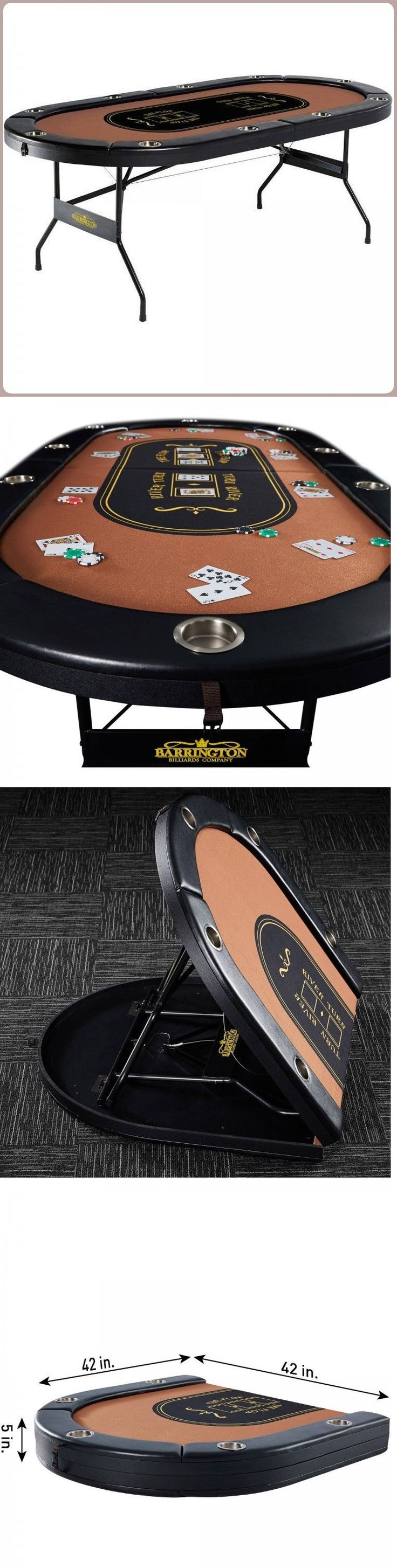 Card Tables and Tabletops 166572: 10 Player Folding Poker Table Casino Game Table Cushioned Rail Compact Storage -> BUY IT NOW ONLY: $179.95 on eBay!
