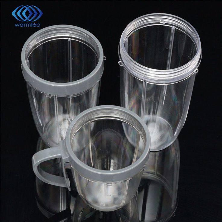 New Juicer Accessories 3PC/Set Juicer Cup PC Materials Mug Clear Replacement For NutriBullet Nutri For Bullet Juicer