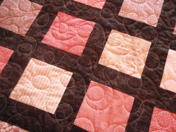 Pink and Brown Queen Quilt