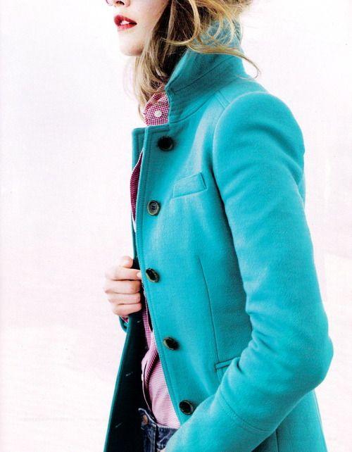 Jcrew SEPT. 2012 STYLE GUIDE: Color, Bikinis Models, 2012 Style, Fall Jackets, Timeless Style, Style Guide, Jcrew, Blue Coats, Winter Coats