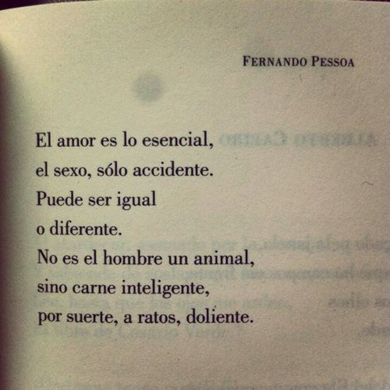 Poema : `Amor es lo esencial´