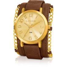 Relógio Feminino Lince Analógico Fashion Dourado LRC4229L c2mk