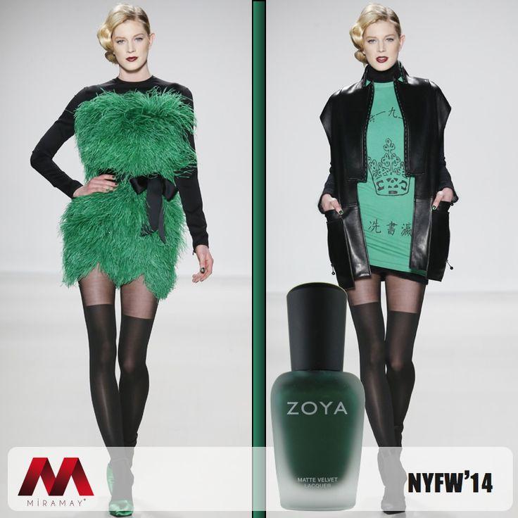 Zoya oje en moda renkleri ile New York Moda Haftası'nda Zang Toi defilesine damgasını vurdu.