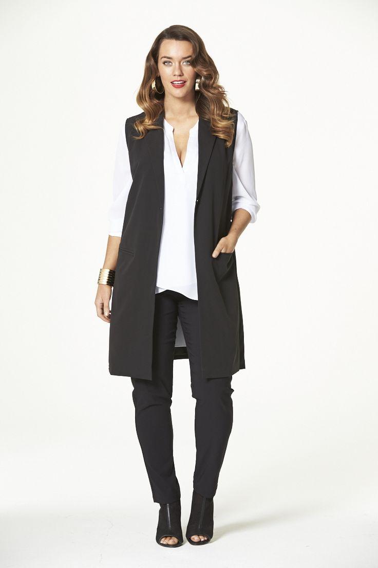 Spring Fling Long Vest  #mysize #plussize #fashion #plussizefashion #spring #newarrivals #outfit