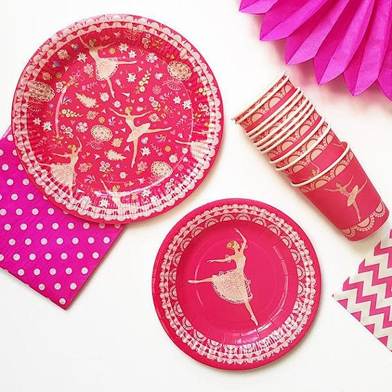 221 pcs Ballerina partyware ballerina party supplies