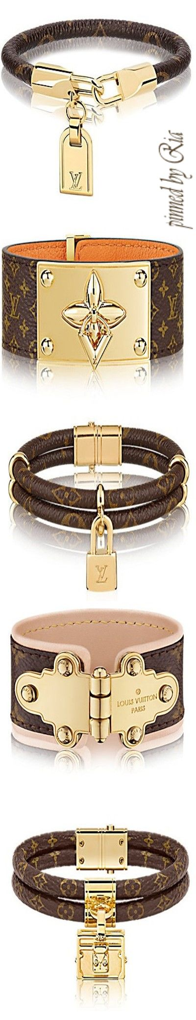Louis Vuitton Flowering and Iconic Monogram Leather Bracelets l Ria