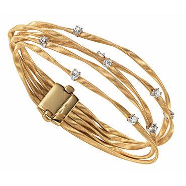Marco Bicego 14k Unico Africa Diamond Multi-Strand Bracelet AlwIm1