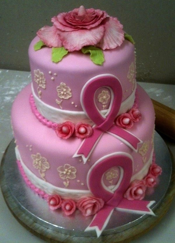 Cake Decorating Ribbon Ideas : 359 best breast cancer fundraising ideas images on ...